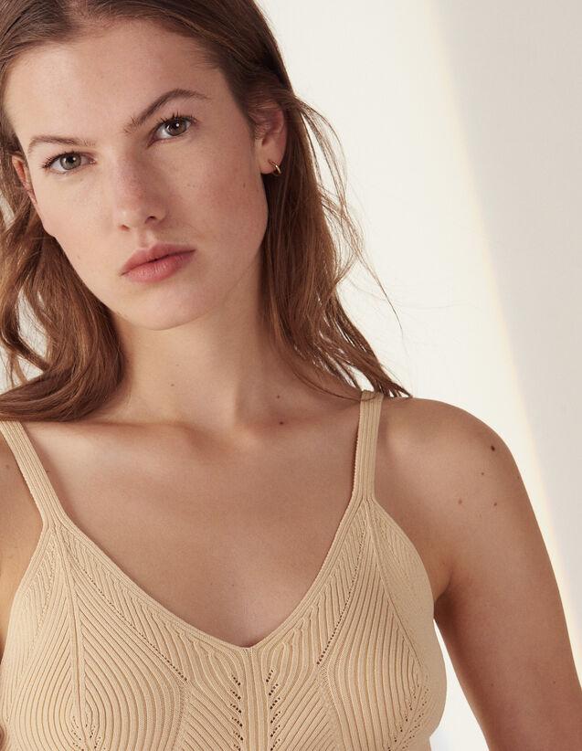 Short Knit Vest Top : LastChance-FR-FSelection color Yellow