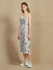 Nightie-Style Dress With Narrow Straps : null color Blue