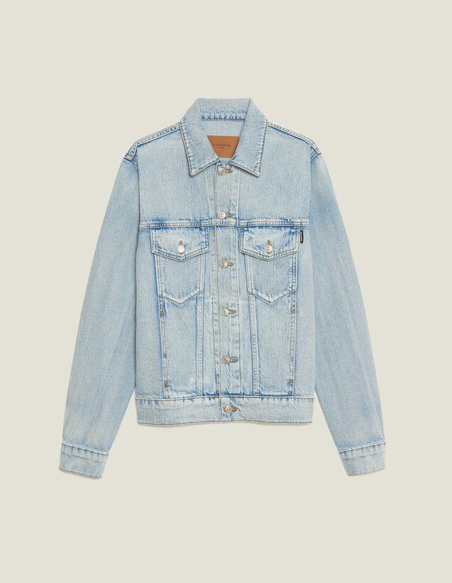 Denim Jacket : SOLDES-CH-HSelection-PAP&ACCESS-2DEM color Stone Washed