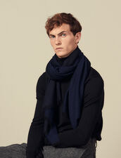 Two-tone reversible scarf : Scarves color Navy Blue