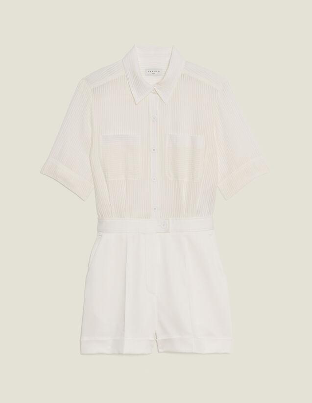 Playsuit With 2-In-1 Effect : SOLDES-DE-FSelection-Jupes&Shorts color Ecru