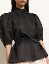 Shirt with removable belt : Tops & Shirts color Black