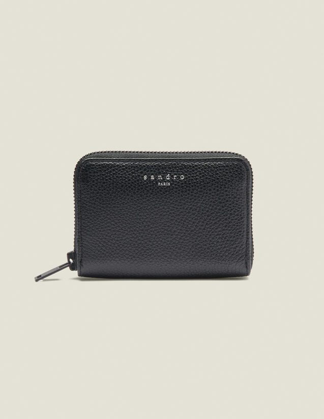 Zipped card holder : All Winter collection color Black
