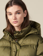 Oversized quilted padded jacket : Coats color Olive Green