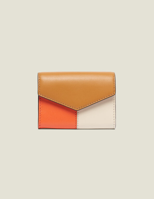 Lou Wallet : null color Camel/Ecru/Orange