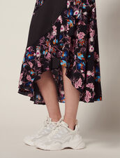 Long Floaty Printed Skirt : Skirts & Shorts color Black