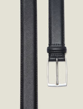 Saffiano leather belt : Belts color Black