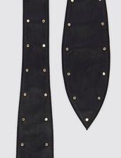 Wide Tie Belt With Studs : Belts color Black
