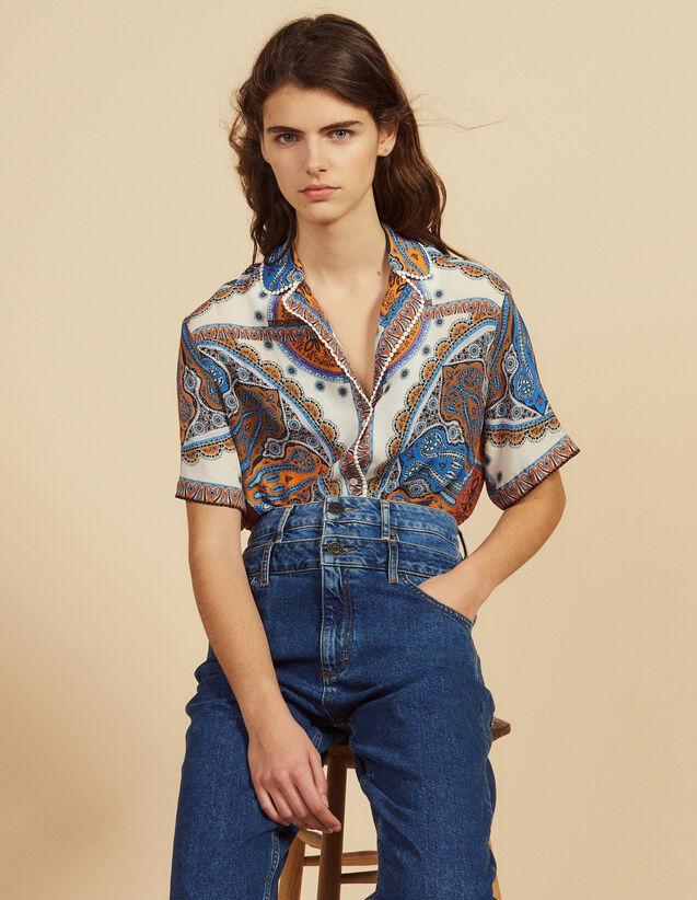 Printed Pyjama Shirt : Tops & Shirts color Multi-Color