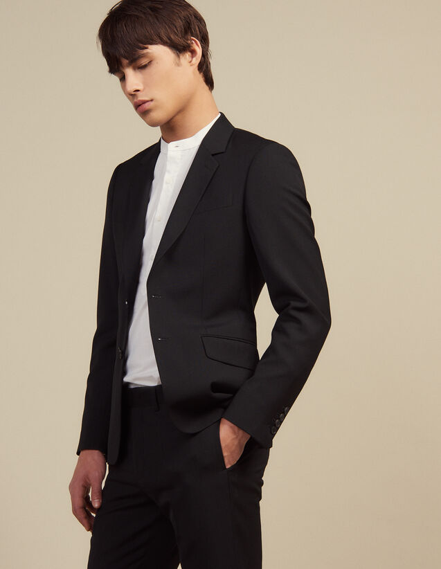 Wool Suit Jacket : Sélection Last Chance color Black