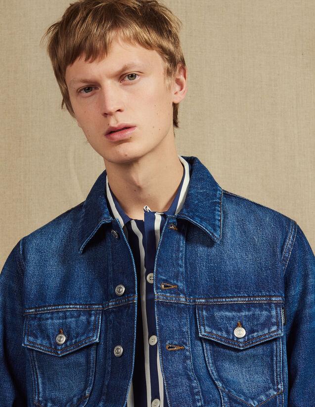 Washed Denim Jacket : Blazers & Jackets color Blue Vintage - Denim