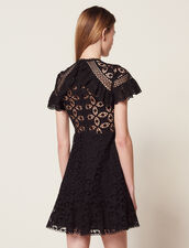 Ruffled Lace Dress : Dresses color Black