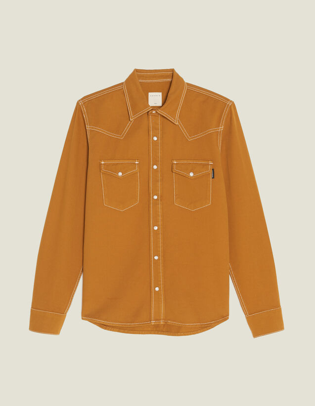 Cotton Fabric Shirt : Shirts color Ochre