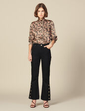 Flared jeans with slits : Copy of VP-FR-FSelection-Pantalons&Jeans color Black