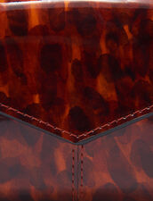 Printed Patent Leather Wallet : All Winter collection color Orange leopard