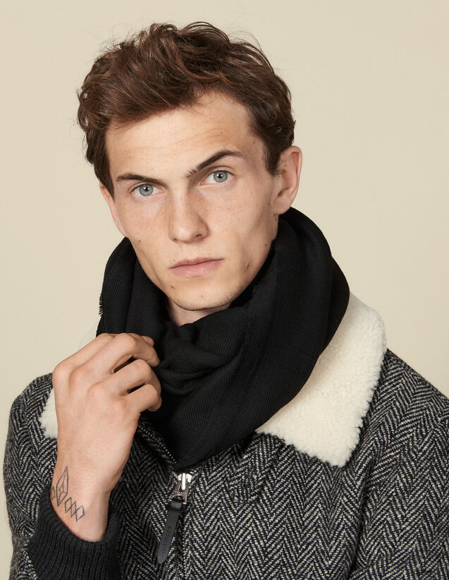 Two-tone reversible scarf : Scarves color Black