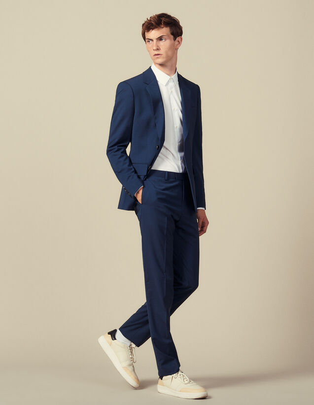 Classic super 110 suit trousers : Winter Collection color Petrol