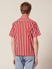 Shirt With Contrasting Stripes : Sélection Last Chance color Red