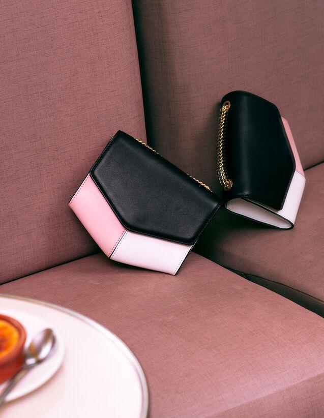 Lou Bag, Small Model : My Lou Bag color Noir/Blanc/Pivoine