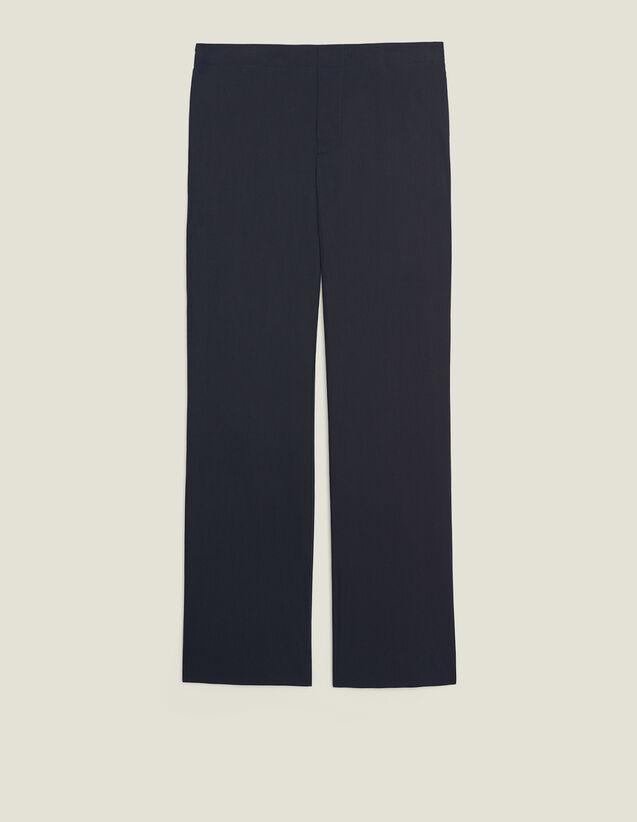 Cotton Trousers With Elasticated Waist : Sélection Last Chance color Navy Blue