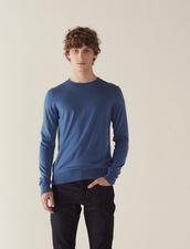Merino Wool Sweater : Sélection Last Chance color Steel blue