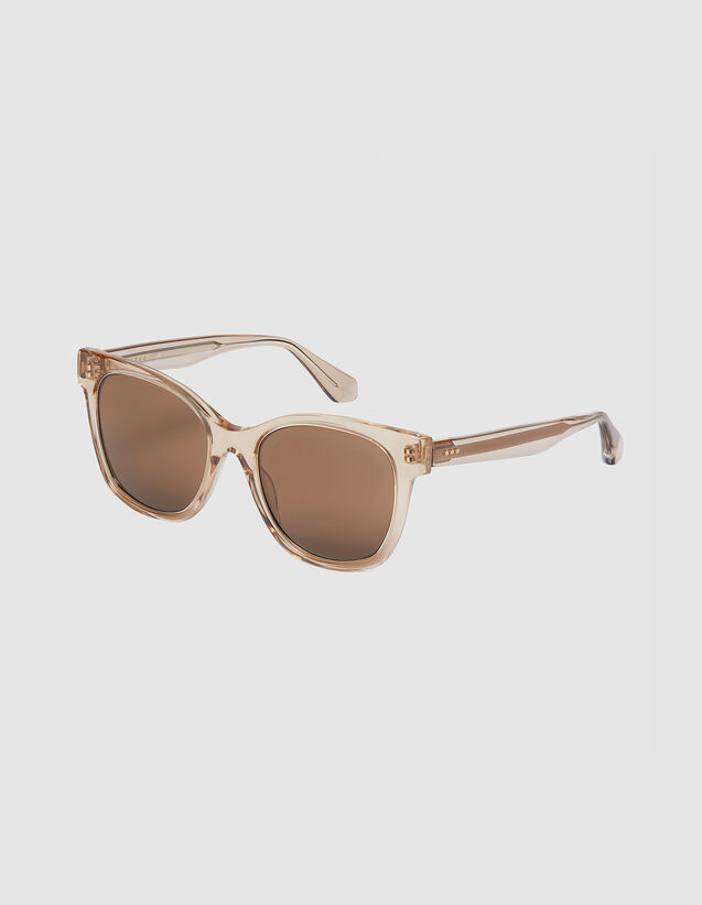 Oversized sunglasses : All Winter collection color Tobacco Brown