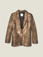 Brocade tailored jacket : FBlackFriday-FR-FSelection-30 color Gold