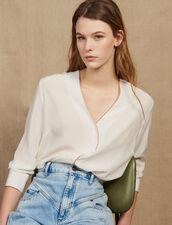 Low-Cut Silk Shirt : LastChance-FR-FSelection color Ecru