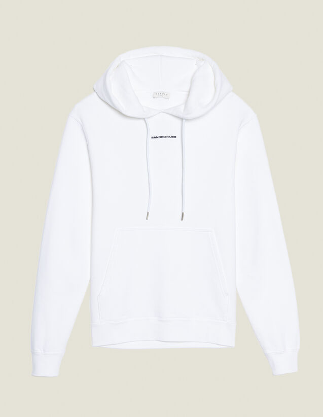 Hoodie sweatshirt with logo embroidery : Sweatshirts color Black