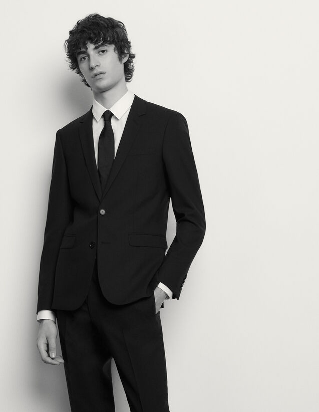 Classic wool suit jacket : Suits & Tuxedos color Black