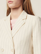 Pinstriped Tailored Jacket : Blazers & Jackets color white