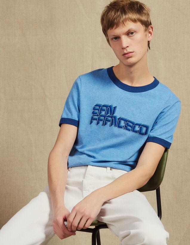 Slogan T-Shirt : T-shirts & Polo shirts color Sky Blue