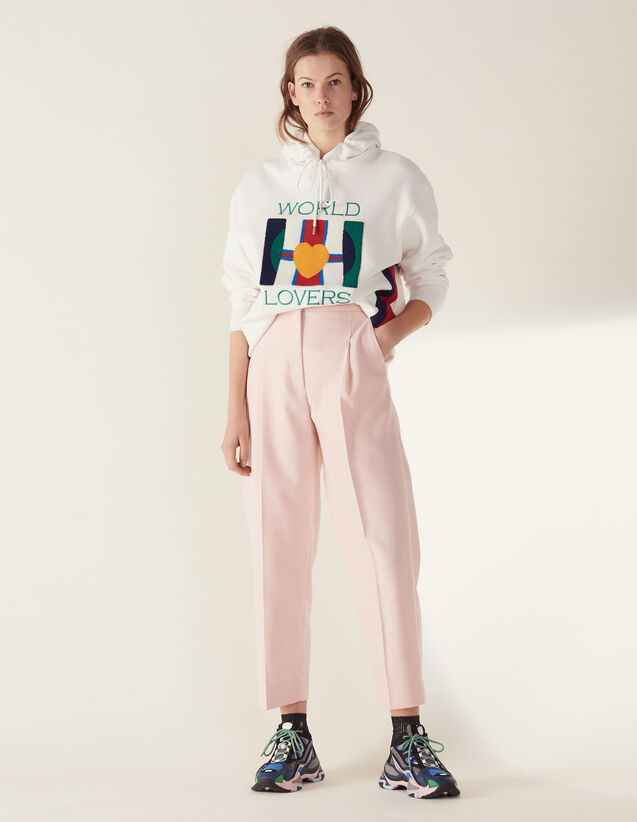 Matching 7/8-Length Tailored Trousers : LastChance-FR-FSelection color Pink