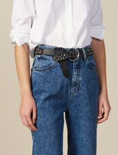 Wide Leather And Chain Belt : New In color Black