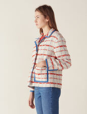 Tweed Blazer Jacket : null color Multi-Color