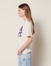 T-Shirt With Cut-Outs On The Shoulders : T-shirts color white