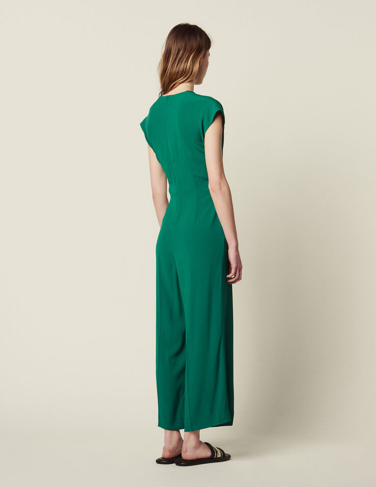 28e0ffe30b Jumpsuit with tie fastening on the top P6620E Green - Jumpsuits ...