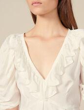 Ruffle neck top : FBlackFriday-FR-FSelection-30 color Ecru
