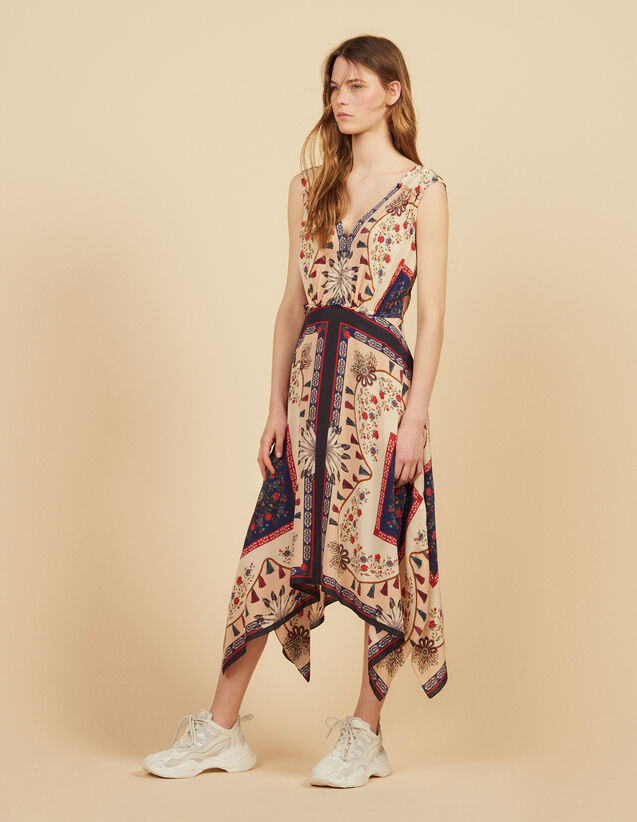667d25c847 Flowing printed sleeveless dress   Dresses color Multi-Color