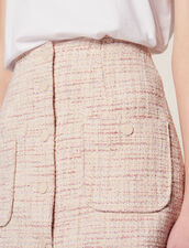 Short Tweed Skirt : null color Pink