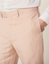 Linen Blend Suit Trousers : SOLDES-CH-HSelection-PAP&ACCESS-2DEM color Light pink