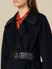 Double-Sided Wool Trench Coat : Coats color Navy Blue