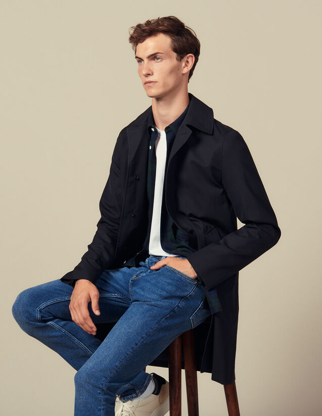 Town coat : All Winter collection color Navy Blue