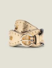 Gold-Tone Studded Belt : Belts color Full Gold