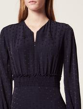 Jacquard Short Dress : Dresses color Navy Blue