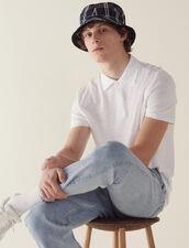 Short-Sleeved Linen Polo Shirt : VP-RE-HSelection-PAP&ACCESS color white