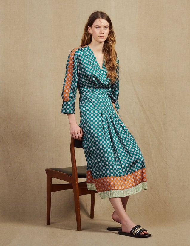 a12f4ac62d6 Patchwork printed long dress   Dresses color Green