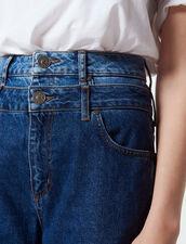 Trompe L'Œil Mom Jeans : Jeans color Blue