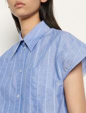 Oversized sleeveless shirt : Tops & Shirts color Blue