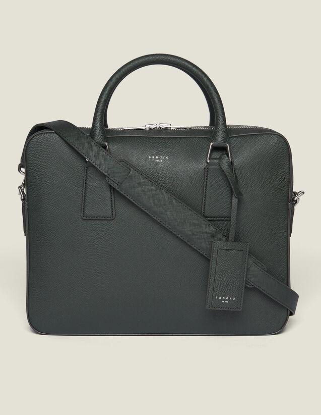 Saffiano Leather Briefcase : Summer Collection color Black